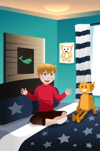 © Artisticco | Dreamstime.com - Boy Talking With His Imaginary Friend Photo
