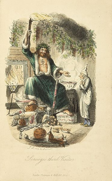 Scrooge's third visitor. Image: public domain | Wikimedia Commons