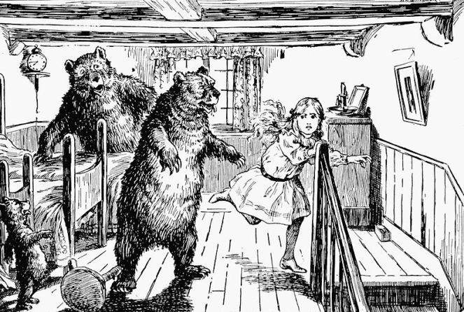 Goldilocks and the Three Bears. Image: public domain | Wikimedia Commons