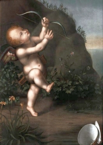 This cherubic little fellow has much to answer for... Image credit: Cupid with a Bow by Aurelio Luini. Public domain | Wikimedia Commons