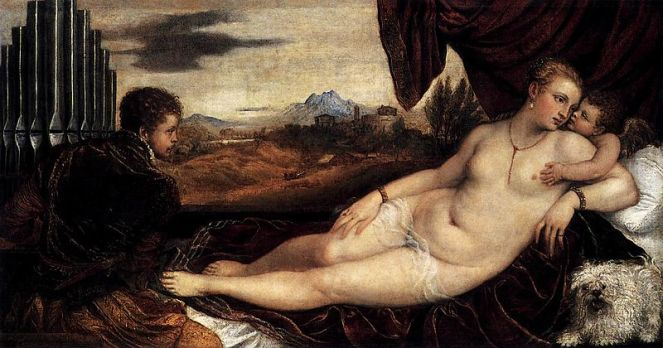 Titian, Venus and Cupid with an Organist. Image: public domain | Wikimedia Commons