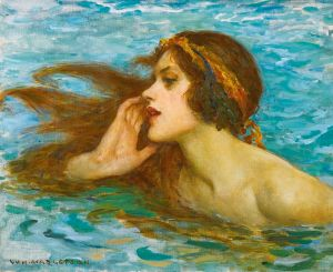 A flame-haired beauty. 'A Little Sea Maiden' by William Henry Margetson. Image: public domain | Wikimedia Commons