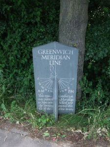 The Greenwich Meridian Line. Which is connected with time, I suppose. Image credit: Keith Evans | Wikimedia Commons