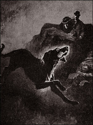 Illustration (The Hound of the Baskervilles) by Sidney Paget. Public domain image, via Wikimedia Commons.