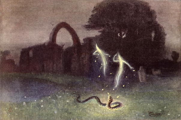Will-o'-the-Wisp and Snake by Hermann Hendrich, c/o Wikimedia Commons