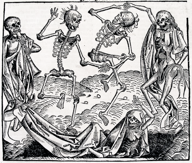 Danse Macabre by Michael Wolgemut Wikimedia Commons